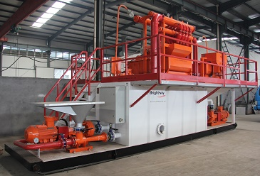 500GPM HDD Mud Recycling System in workshop