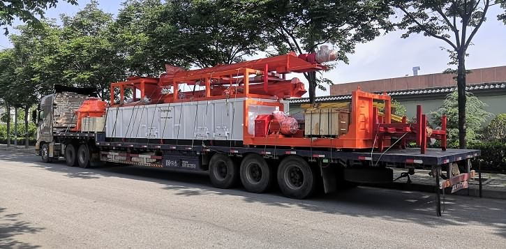 Delivery drilling fluids waste management